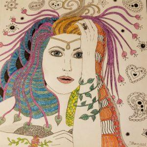 Zentangle goddess in OA recovery