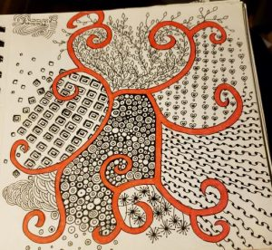 Adding red zentangle in recovery