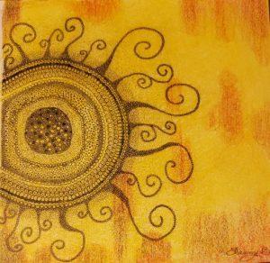 Zentangle sun in OA recovery